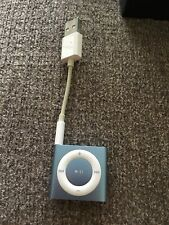 Apple iPod Shuffle- Light Blue - 4th Generation Ready For Music.