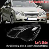 Left Side Headlight Lens Headlamp Cover For Mercedes Benz E Class W212 2009-2013