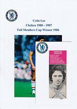COLIN LEE CHELSEA 1980-1987 ORIGINAL HAND SIGNED MAGAZINE CUTTING