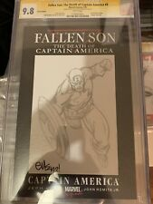 FALLEN SON #3 CGC SS 9.8 death Of CAPTAIN AMERICA sketch By ED MCGUINNESS blank