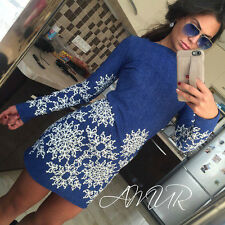 Women Bandage Bodycon Casual Long Sleeve Evening Party Cocktail Mini Dress