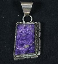 Vintage Wilbert Wauneka Navajo Sterling Silver And Charolite