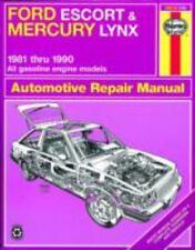 Haynes Repair Manual Ford Escort & Mercury Lynx 1981-1990 All gas engines #36016