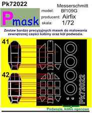 Messerschmitt Bf-109 G PAINTING MASK TO AIRFIX KIT #72022 1/72 PMASK