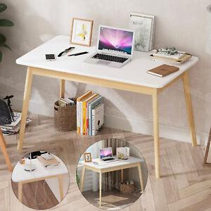 Computer Tables Solid Wood PC Desk Storage Office Study Bookshelf Workstation UK