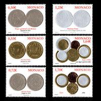 Monaco 2008 - Coins - Sc 2512/7 MNH
