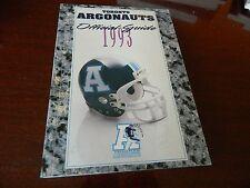 1993 TORONTO ARGOS media guide/fact book CFL Nice condition!