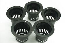 5Pcs Plastic Aquatic Mesh Net Pot Basket Bucket Basket Lid For Garden Plant