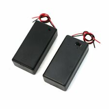 Pair 9V Battery Holder Storage Case ON/OFF Switch w Cap 2 pcs DI