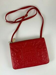 Loungefly Red Sugar Skull Crossbody Bag Purse 2-Part Convertible Snap Together