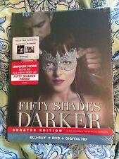 Fifty Shades Darker Blu-Ray DVD Digital HD Walmart Collectible Digibook New 50