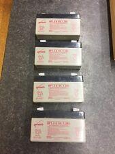 4 Genesis NP1.2-6 SLA Battery, 6V 1.2Ah Batteries, Sealed Rechargeable Lead Acid