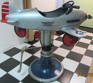RARE VINTAGE AIR PLANE CHILD BARBER CHAIR USAF