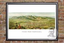 Vintage Pikes Peak, CO Map 1890 - Historic Colorado Art Old Victorian Industrial