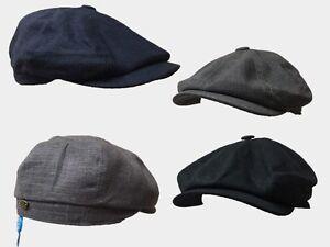 8 panel bakerboy,newsboy,peaky blinder 1920s summer flat cap 6 pence