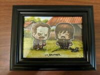 Loot Crate Exclusive SuperEmo Friends JSalvador Walking Dead Print - in Frame