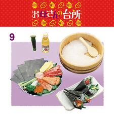 Rare! Re-ment Miniature Mother's Kitchen No.9 Hand Scroll Sushi