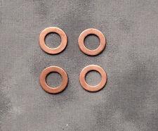 4x WASHERS copper rocker shaft oil feed Triumph BSA R3 Trident T150 T140 T120
