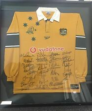 1999 Wallabies Rugby World Cup Champion Framed Signed Jersey All Team Signatures