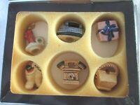 VINTAGE GOEBEL WEST GERMANY ORNAMENTS SET OF 6 NEW IN ORIGINAL BOX