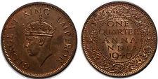 INDIA BRITISH ONE QUARTER ANNA 1940 UNC!!!!