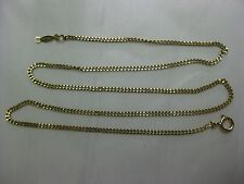 18KT SOLID YELLOW GOLD CABLE LINK STYLE CHAIN 18 Inches Long   #02-038