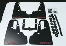 SALE [SR] 2015-2019 Mud Flaps Set BLACK with Hardware Kit & RED Custom Vinyl B