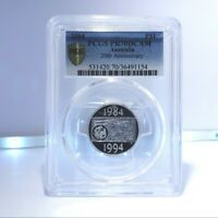 2004 $1 Australia 20th Anniversary of the dollar Coin Silver Proof PCGS PR70