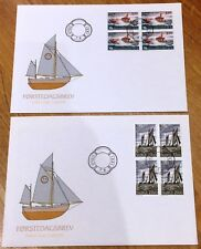 Norway Post FDC 1991.06.07. Sea Rescue Society Centenary - Block of Four