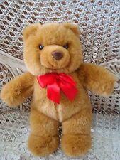 "Gund 11"" Tall Teddy Bear With Red Bow *So Cute*"