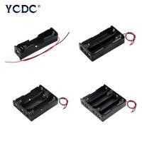 3,7 V 18650 Batterie Aufbewahrungskoffer Halter Box DIY Mit Draht FüHrt 1/2/3/4