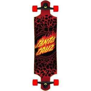 "Santa Cruz Flame Dot Drop Down Complete Cruiser Skateboard - 40"""
