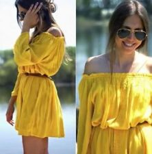 2c3f6ca15a ZARA YELLOW EMBROIDERED BOHO FLOWING DRESS. REF 0881 008 M BLOGGERS FAVORITE