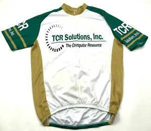 TCR Solutions Cycling Jersey Size Extra Large XL 3/4 Zip Shirt Short Sleeve Mens