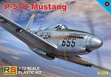 NORTH AMERICAN P-51 H MUSTANG (USAAF & BRITISH RAF MKGS) #92219 1/72 RS MODELS