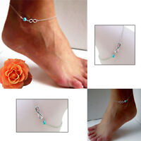 Fashion Bohemian Bead Infinity Charm Chain Anklet Bracelet Barefoot Jewelry _CA