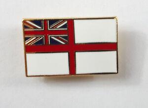 Enamel Royal Navy White Ensign Navy Badge Crest British Lapel Pin Small Metal