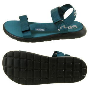 Adidas Comfort Sandals Slides Flip-Flops Slipper Blue Green EG6691