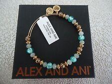 Alex and Ani MOON, TIDE Russian Gold Beaded Bangle New W/Tag Card & Box