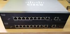 Cisco SG300-10P 10-Port Gigabit PoE+ Managed Switch w/ 2 SFP Combo Ports