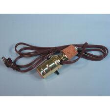 Ceramic Bottle Cork Lamp Kit 6-Foot Brown Cord