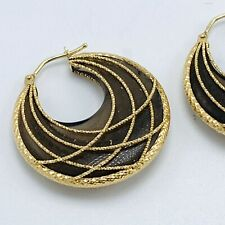 Yellow Gold 14K Wire Wrap Smokey Quartz Earrings Milor Italy from QVC