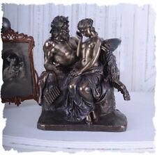 Vintage Skulptur antike Figur Satyr & Psyche Mythologie
