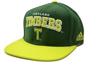 Portland Timbers adidas NT72Z MLS Soccer Team Logo Flat Brim Snapback Cap Hat