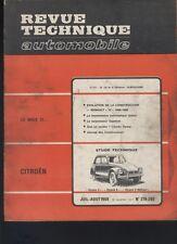 (167) Revue technique automobile Citroën Dyane 4 et 6 Méhari / Renault 10