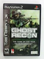 PS2 Tom Clancy's Ghost Recon (Sony PlayStation 2, 2002) Black Label Complete