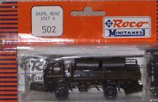 Roco H0 Minitanks 502 MB Daimler Benz 1017 A w/ 2 Fuel Tanks on Truck Bed  NIP