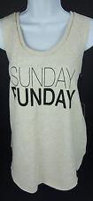 Sunday Funday Medium FontLab Ivory Sweatshirt Lounge NWT Sleeveless