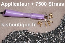 Kit Applicateur a Strass Violet + 7500 Strass thermocollant (Hotfix) #851#
