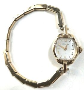 Hamilton ladies watch gold fill plate Duchess band vintage bracelet Swiss made
